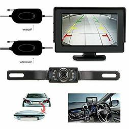 Wireless Rear View Backup Camera and Mirror Monitor Kit Syst