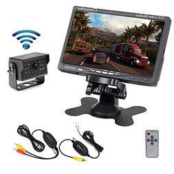 Camecho Wireless Vehicle Backup Camera 7 Inch TFT Monitor 12
