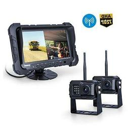 Yuwei Digital Wireless Backup Camera System,YW-77214 Dual HD